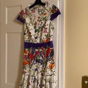 Fun and feminine floral dress
